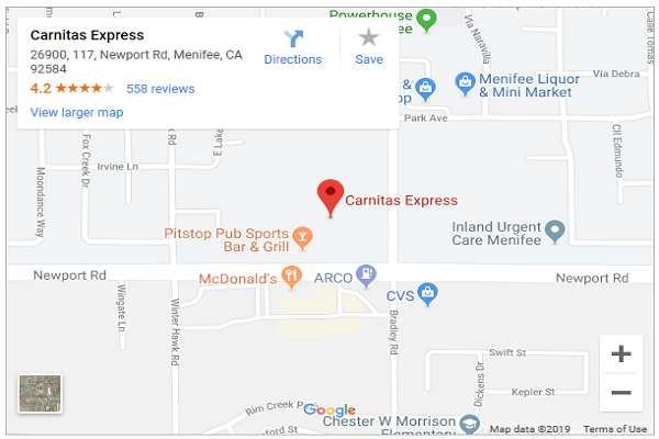 map to menifee location